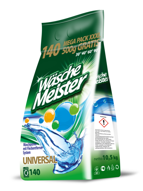 Waschpulver WäscheMeister Universal 10,5 kg