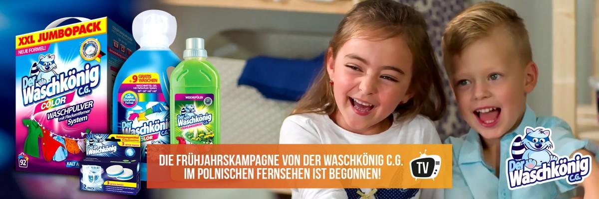 Die Frühjahrskampagne von Der Waschkönig C.G. im polnischen Fernsehen ist begonnen!