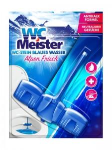 WC Meister Alpen Frisch - ein WC-Einhänger, der das Wasser färbt